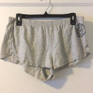 Grey Pink Victoria's Secret Sleep Shorts Size L